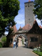 June 2008 Picture of my sister, Emily, and I in the Medieval town of Rothenburg, Germany -  Hahn family lived near this town before homesteading in Preston, MN